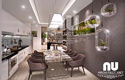 Nội thất phòng ăn căn hộ chung cư