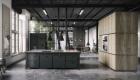 thiết kế nội thất phòng bếp với tone màu đen trắng 10