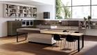 thiết kế nội thất phòng bếp với tone màu đen trắng 18