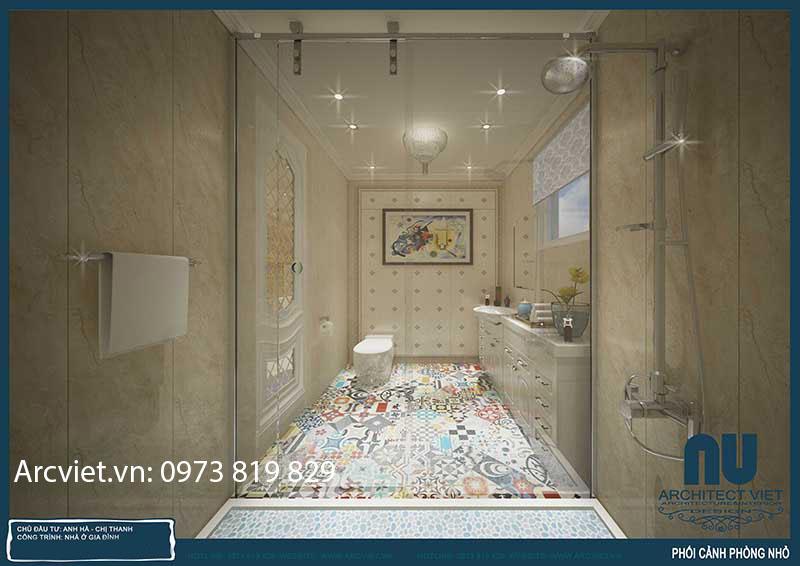 Thiết kế nội thất biệt thự Vinhomes Riverside anh Hà21
