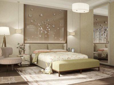 thiết kế nội thất phòng ngủ lãng mạn cho vợ chồng mới cưới 9