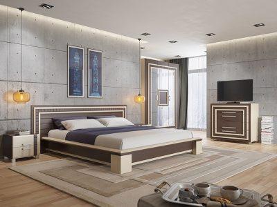 thiết kế phòng ngủ đơn giản, nổi bật với tường bê tông 8