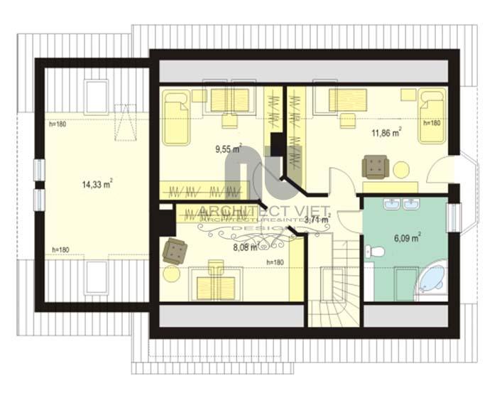 Thiết kế tầng lửng trong nhà cấp 4 mở rộng thêm không gian sử dụng giúp tăng số phòng ở