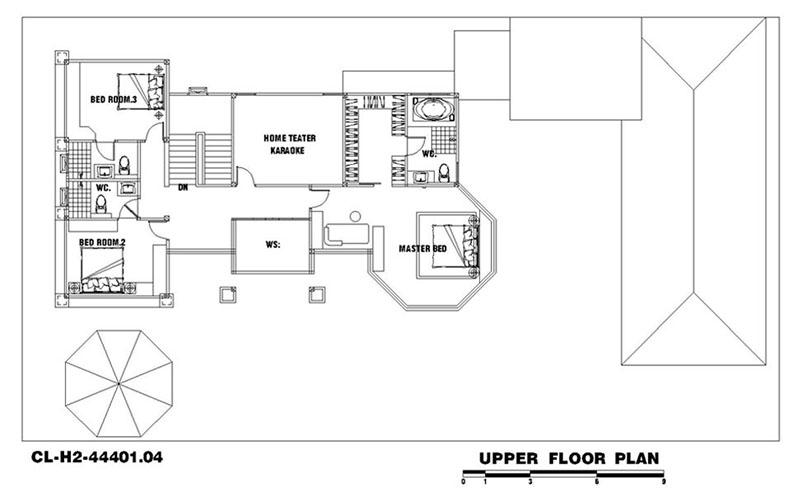 Nội thất tầng 2 của mẫu thiết kế biệt thự tân cổ điển 444m2