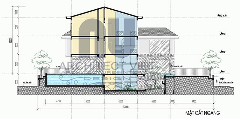Thiết kế biệt thự nhà vườn 3 tầng trên đất 1000m2 tại Sóc Sơn10