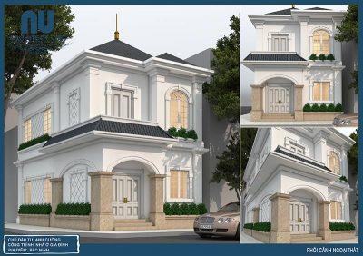 các góc nhìn đẹp của mẫu biệt thự 2 tầng