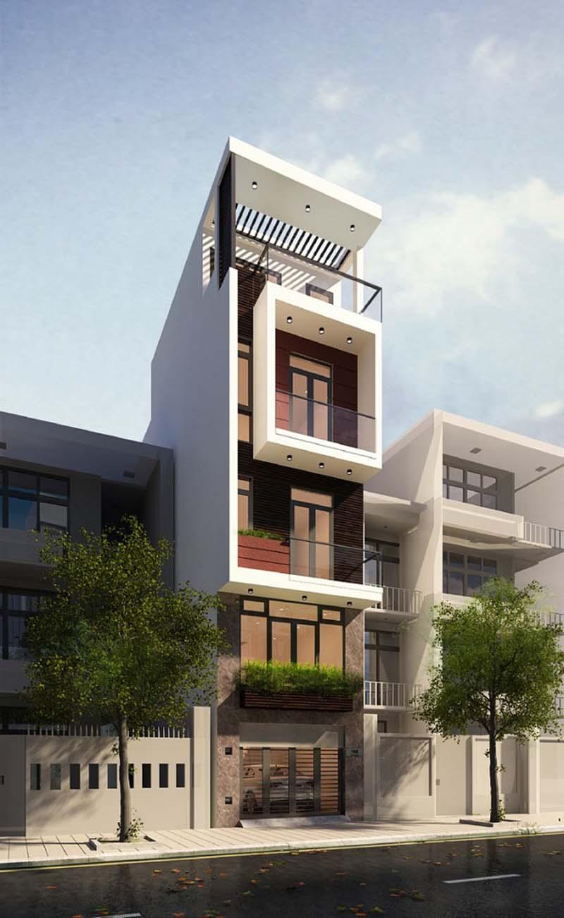 mẫu nhà phố hiện đại 50m2 4 tầng 6