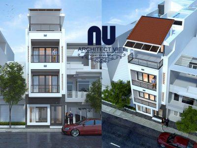 nhà phố 3.5 tầng hiện đại