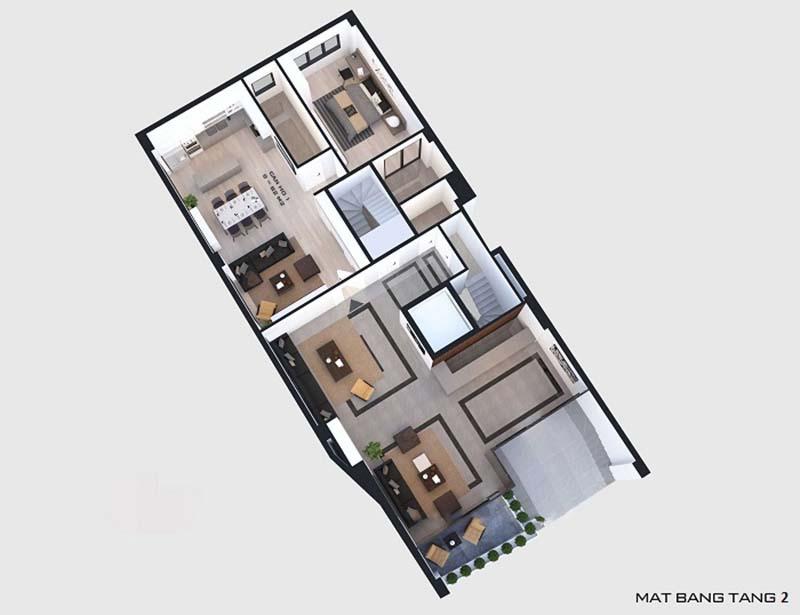 nhà phố 6x20m 5 tầng hiện đại 3