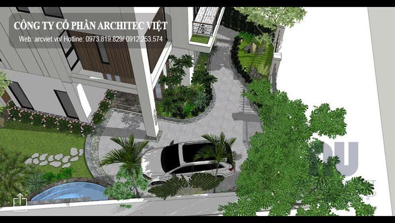 thi công nội thất biệt thự Vinhomes Riverside Hoa Lan