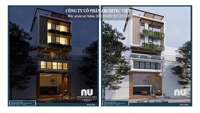 Mẫu nhà phố được thiết kế theo phong cách hiện đại phổ biến nhất hiện nay.