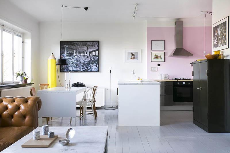 thiết kế diện tích phòng bếp tiêu chuẩn