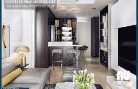 Sức cuốn hút từ mẫu nội thất chung cư hiện đại 66m2 hot nhất năm 2018