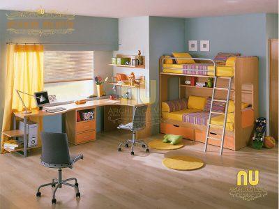 thiết kế bàn học cho bé