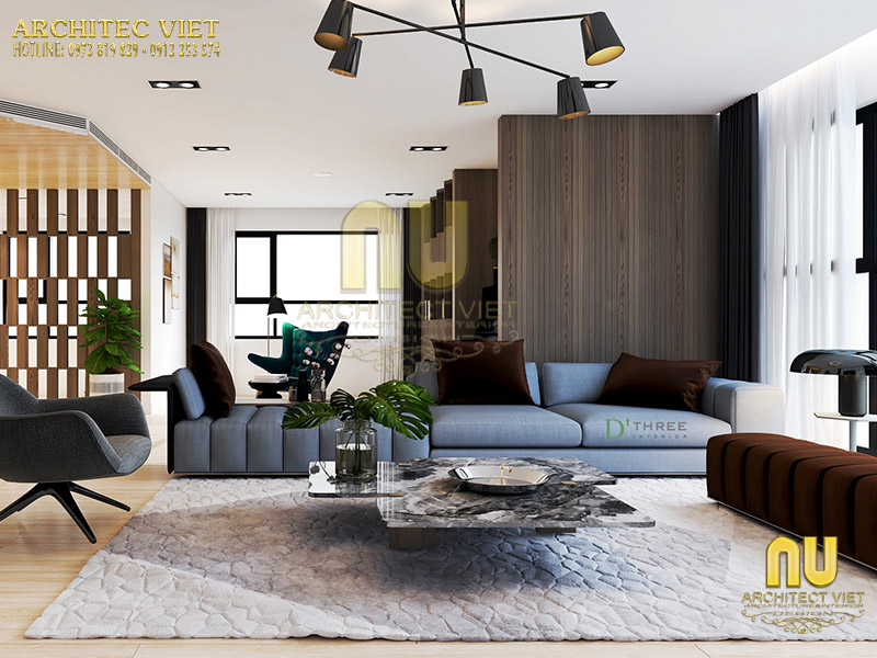Thiết kế không gian phòng khách hiện đại mang lại sự sang trọng