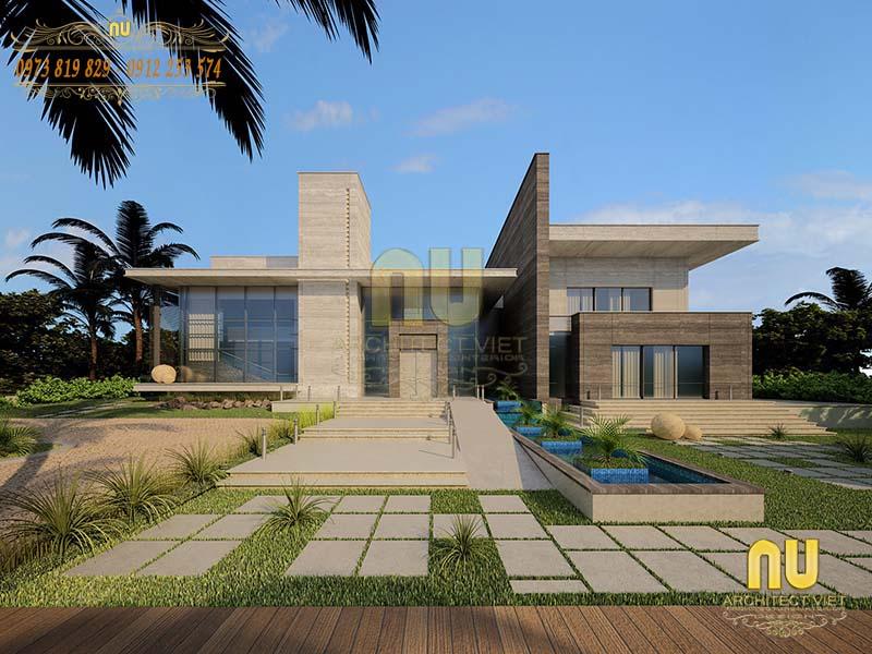 thiết kế biệt thự hiện đại 1 tầng