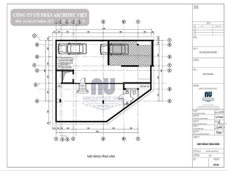 sơ đồ công năng sử dụng hợp lý cho căn biệt thự 4 tầng