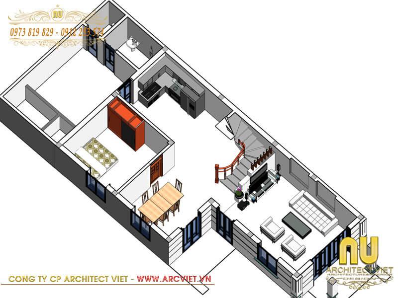 xây nhà mái thái 2 tầng hiện đại