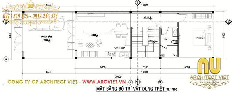 mẫu nhà đẹp 3 tầng 7x15