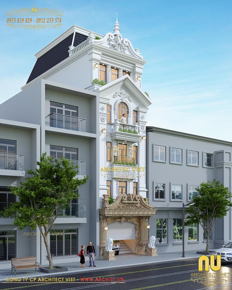 thiết kế nhà phố kết hợp kinh doanh Spa