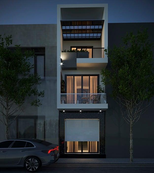 nhà phố 3 tầng 4x14